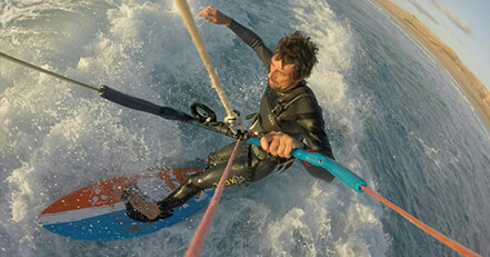 Corsi kitesurf Fuerteventura wave strapless